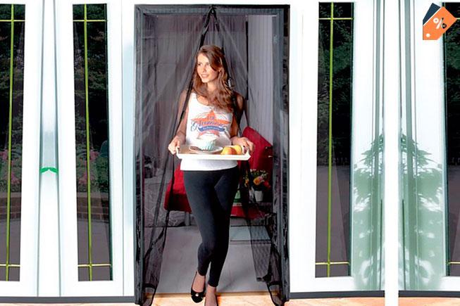 Cortina mosquitera para puertas con cierre magn tico for Cortinas mosquiteras para puertas