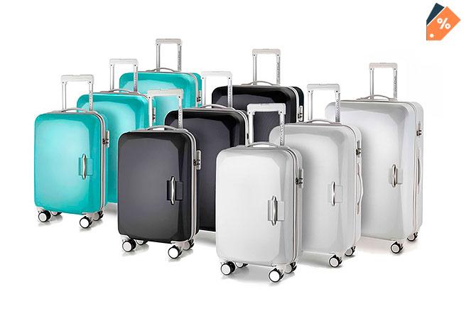 0641badaf Juego de 3 maletas ABS con marco de aluminio y 4 ruedas ¡Ligeras y  duraderas!